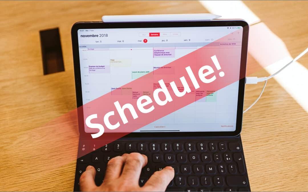 Get the updated Schedule