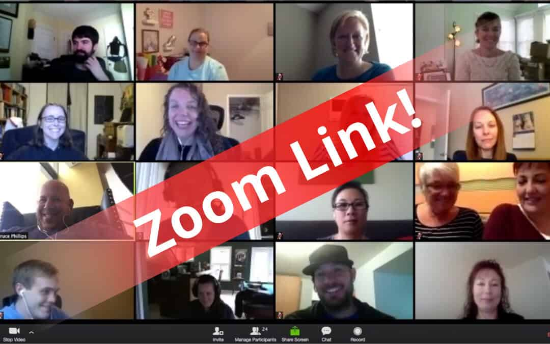 Use the Zoom link on this page to enter Learning Sessions